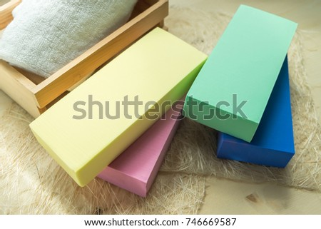 a608a3b45 Colorful Sponge Yellow Green Blue Pink Stock Photo (Edit Now ...