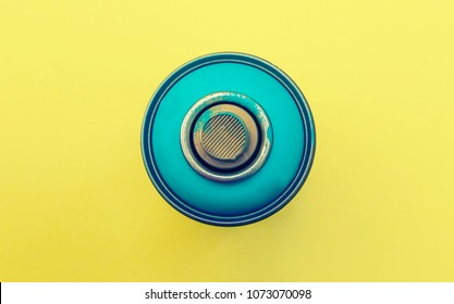colorful spray cans