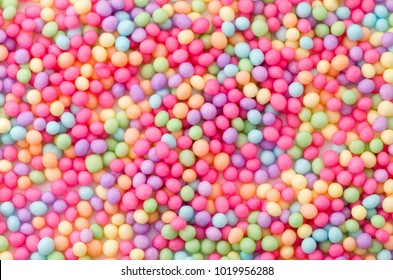 Colorful sprinkles sugar texture