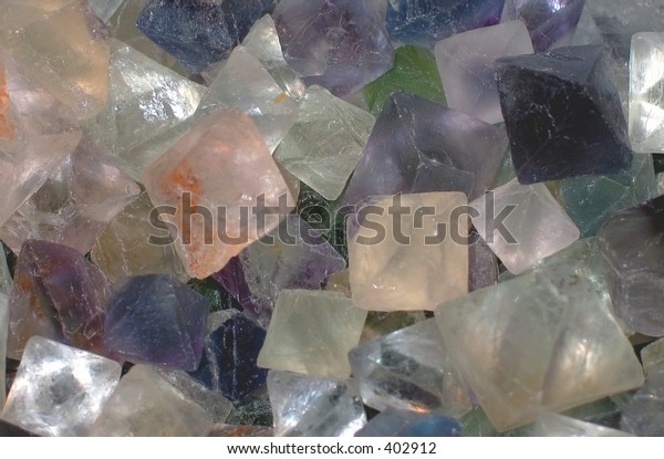 colorful square crystals background (slightly noisy and slightly soft)