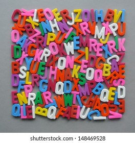 Colorful square letter texture wallpaper background