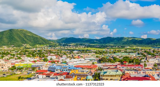 Colorful St Kitts Town