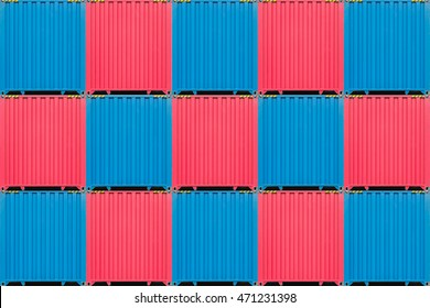 colorful stack of container shipping