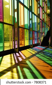 Colorful Stained Glass Pattern (Palais des Congres - Montreal, Canada)