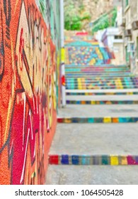 The Colorful stairs in Mar mikhael Lebanon