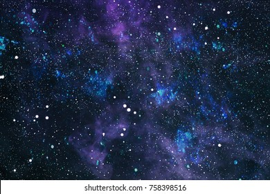 Colorful Starry Night Sky Outer Space background .