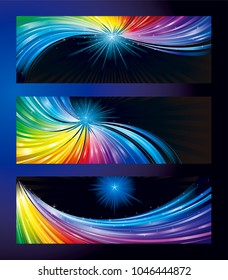 Colorful Stars Banner Background