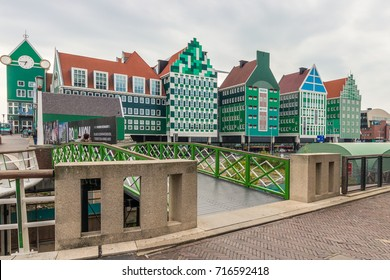 Colorful Station in Zaandam near Amsterdam, Noordholland, Netherlands