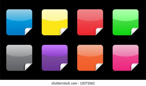 Colorful stickers with with fold up