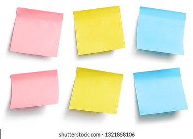 Colorful stickers, isolated on white background