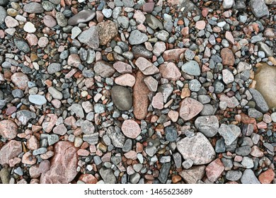 Colorful stone on the floor