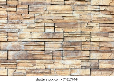 Colorful stone siding outer wall