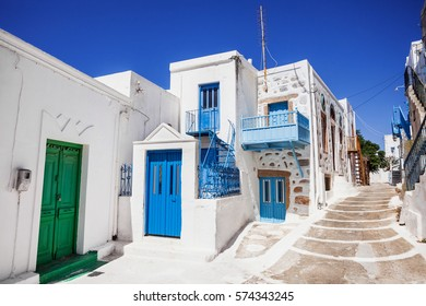 Colorful street in Astypalaia, Dodecanese, Greece
