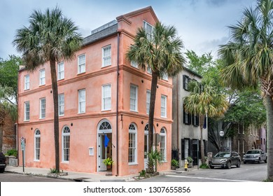 Colorful street in Charleston South Carolina in the USA