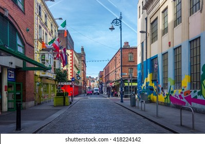 Colorful streets of Dublin Ireland