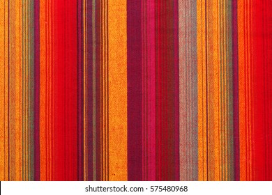 Colorful striped fabric texture