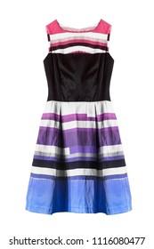 e9499daf5 Vintage Elegant Strapless Dress Colorful Striped Stock Photo (Edit ...