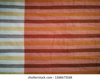 Colorful stripes on Loincloth, Thai loincloth texture as background