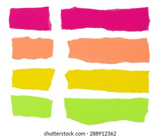 Colorful strips of paper useful as background design element