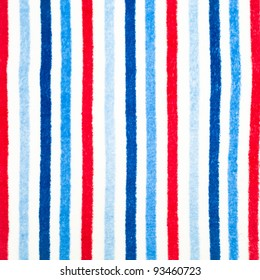 A colorful stripy background of fleece material