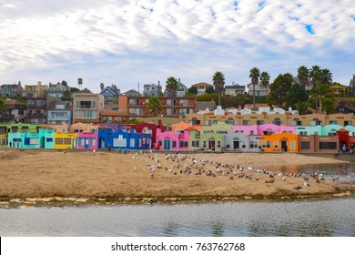 colorful stucco houses on the beach, Capitola Village by the Sea is one of the oldest vacation retreats on the Pacific Coast.