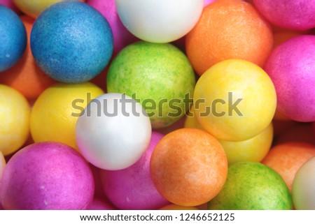 Colorful Styrofoam Balls Wedding Decorative Polystyrene Stockfoto