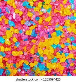 colorful sugar crystal