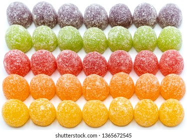 Colorful sugar gumdrops