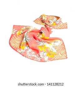 colorful summer scarf isolated on white