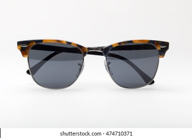 Colorful sunglasses isolated on a white background
