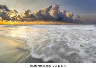 Colorful sunrise on hilton Head Island