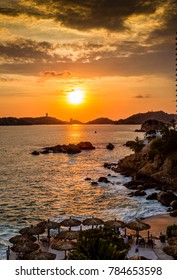 Colorful sunset over Acapulco bay.CR2