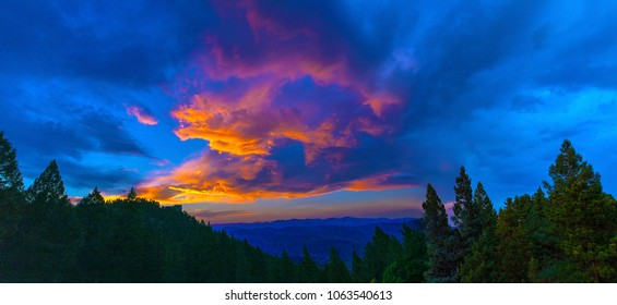 Colorful Sunset Over Evergreen, Colorado