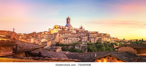 Colorful Sunset in Siena, Tuscany - Italy