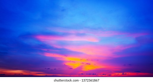 Colorful sunset sky background.