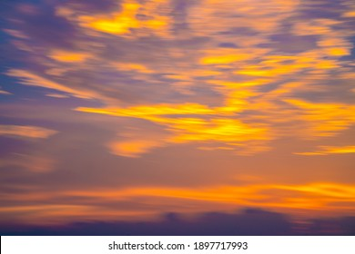 Colorful sunset sky with cloud dramatic sky nature landscape