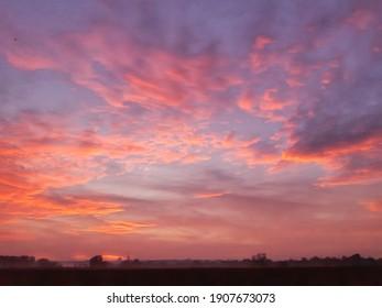 colorful sunset sky clouds twilight