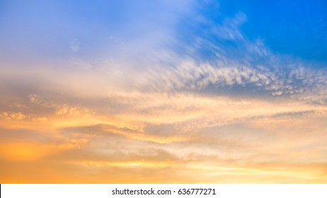 Colorful sunset sky in twilight time for background design