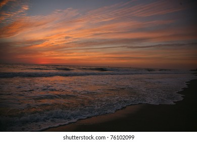 colorful sunset or sunrise over ocean