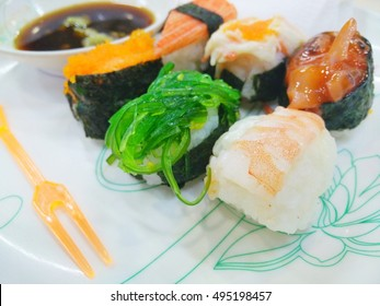 colorful of sushi,japan food