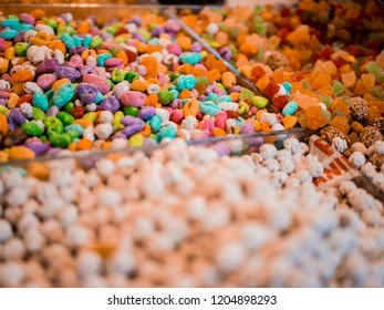 Colorful Sweets on a Moroccan Market in Marrakesh