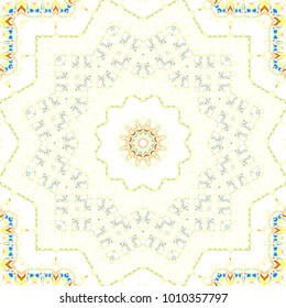 Colorful symmetrical pattern for textile, ceramic tiles and design