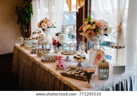 Colorful Table Sweets Goodies Wedding Party Stock Photo Edit Now