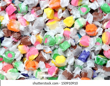 colorful taffy candies for background uses