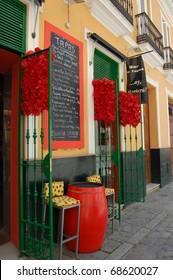Colorful Tapas bar in Spain