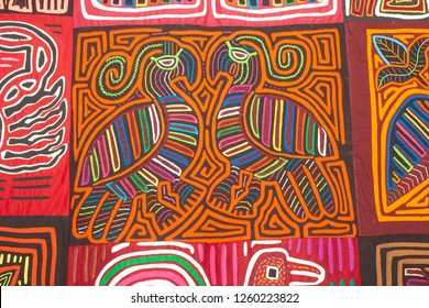 Colorful textile called Mola