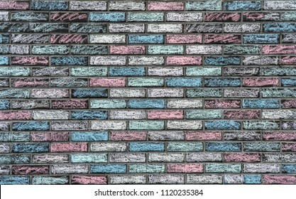 Colorful texture of a bricks wall.