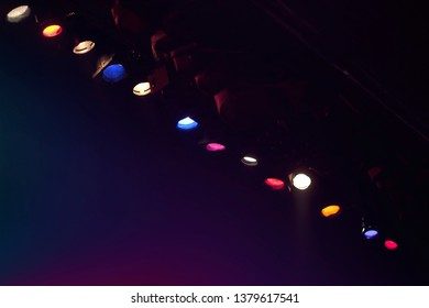 colorful theater flood lights