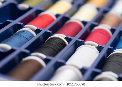 colorful thread no people