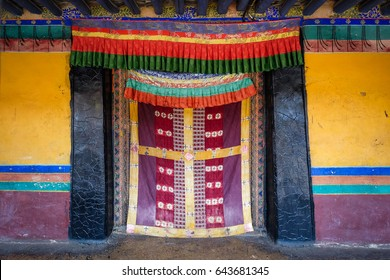 Colorful Tibetan  door in Tibet, China